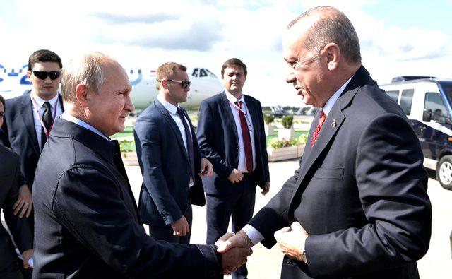 Kremlin, Erdoğan'ın MAKS-2019 fuar ziyaretinin görsellerini paylaştı