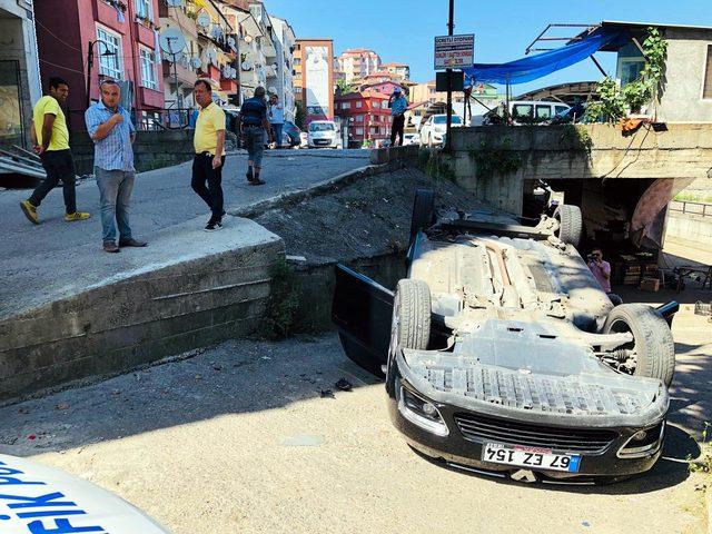 Otomobil kiraladı, 2 saat sonra kaza yaptı