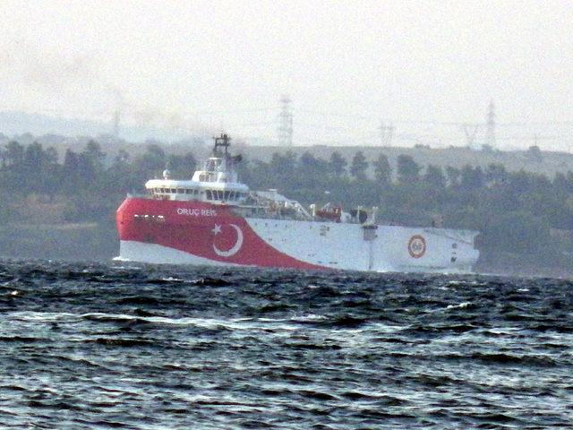 Oruç Reis de Akdeniz'e iniyor