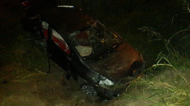 Ehliyetsiz sürücünün kullandığı otomobil takla attı: 4 yaralı