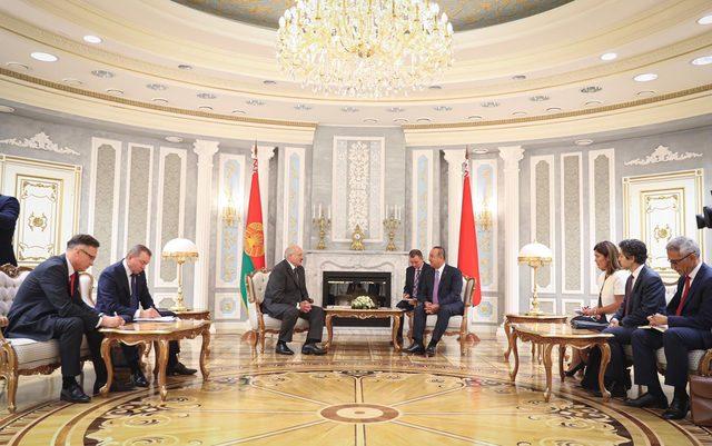 Çavuşoğlu, Belarus'ta temaslarda bulunuyor