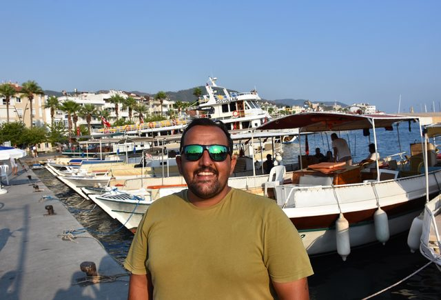 Marmaris'in tekne dolmuşları ilgi görüyor