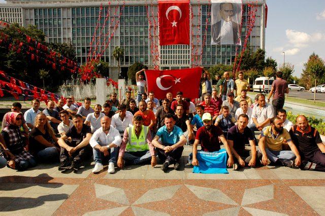 İşten çıkarılan işçilerin İBB önündeki eylemi devam ediyor