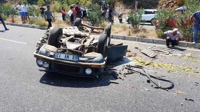 Muğla'da kaza: 1 ölü, 4 yaralı