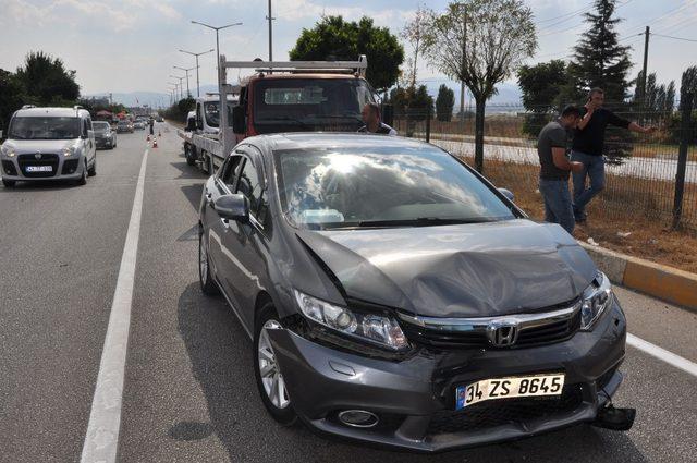 Sandıklı'da 4 araç kazaya karıştı