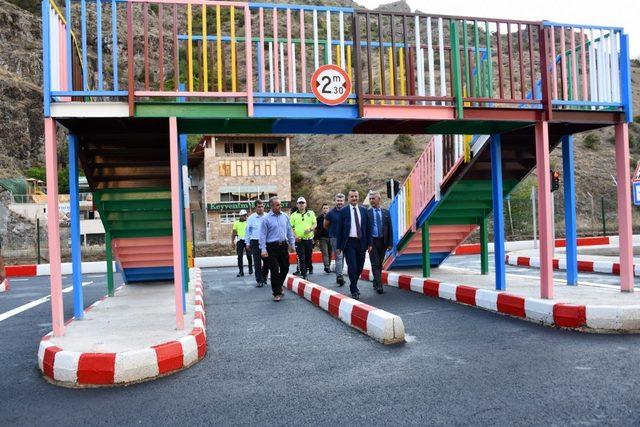 Gümüşhane'de Çocuk Trafik Eğitim Parkı tamamlandı