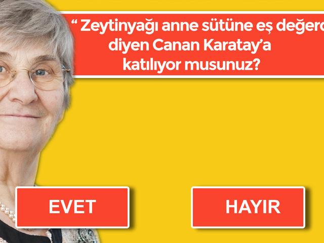 Canlı Yayın: Canan Karatay'ın ''Zeytinyağı anne sütüne eş değerdir'' Sözüne Katılıyor Musunuz?