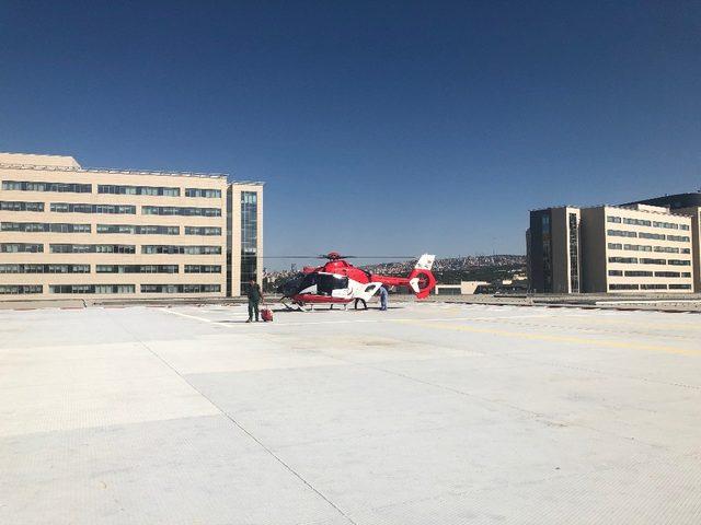 Niğde'den ambulans helikopterle taşınan kalp Ankara'da atacak