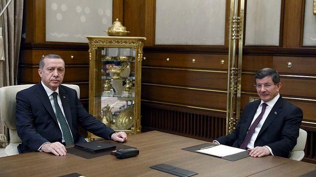 Ahmet Davutoğlu ve Cumhurbaşkanı Erdoğan