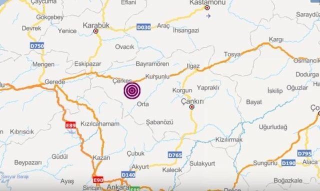 Çankırı'da art arda depremler! (Deprem anı İZLE)