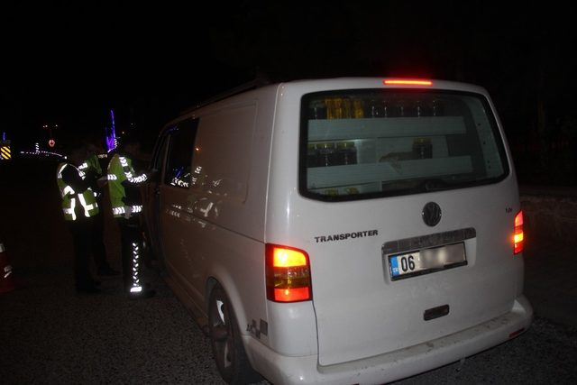 Şuhut'ta sürücülere trafik ve alkol denetimi