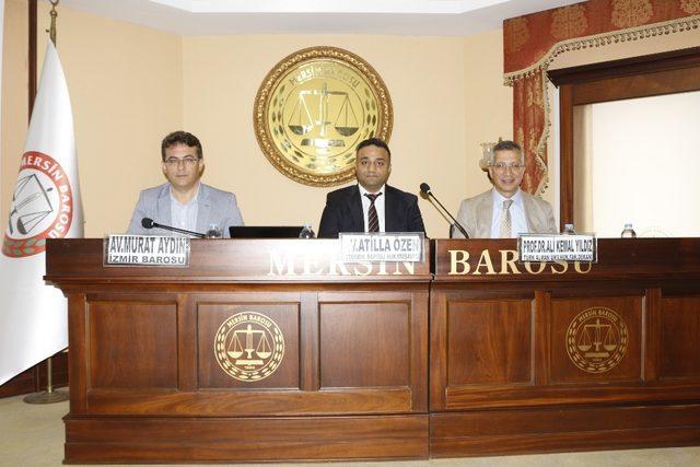 Avukatlara hukuki ve cezai sorumlulukları anlatıldı