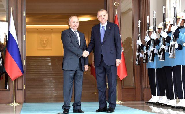 Kremlin, Putin-Erdoğan görüşmesine dair görselleri yayınladı