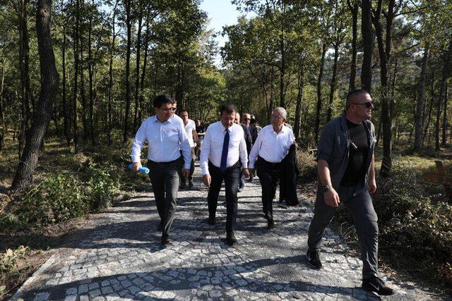 İBB Başkanı İmamoğlu Harem Otogarı ve Kemerburgaz Kent Ormanı'nda incelemelerde bulundu