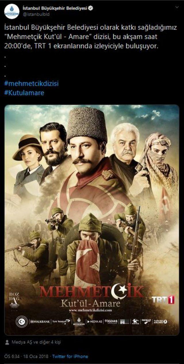Ekrem İmamoğlu: TRT dizisine 25 milyon TL aktarılmış!