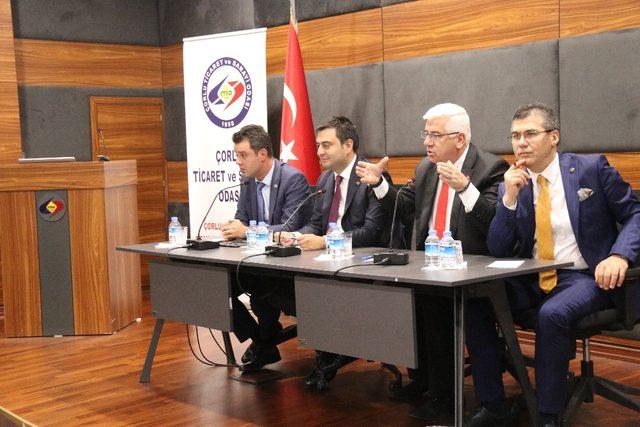 Ergene Belediye Başkanı Yüksel, Çorlu TSO Komite Toplantısı'na katıldı