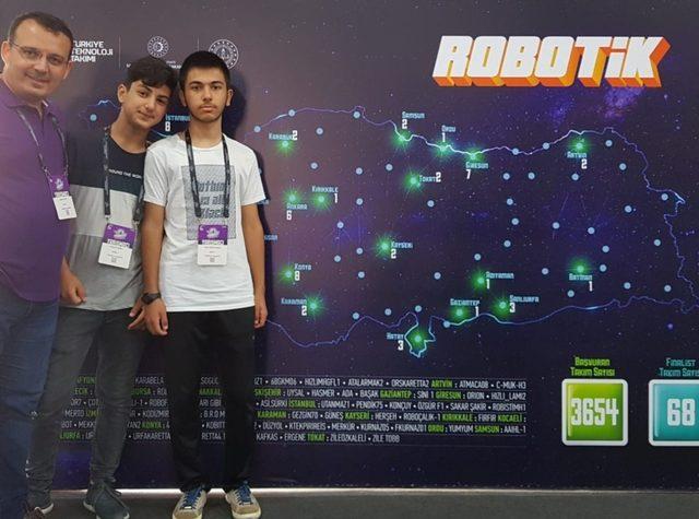 Teknofest'de Atakum İmam Hatip Lisesi Türkiye 4.'sü oldu