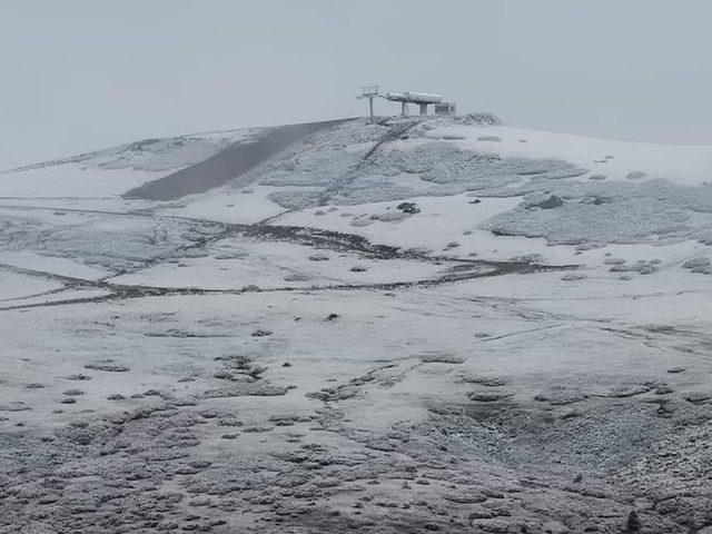 Ordu'ya mevsimin ilk karı düştü