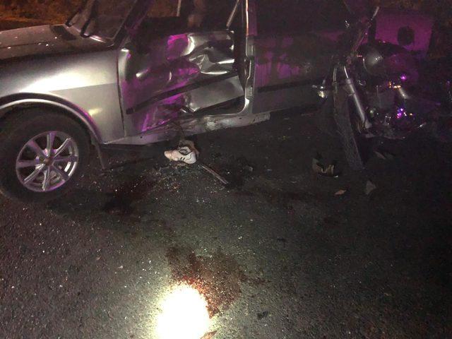 Elazığ'da otomobil ile motosiklet çarpıştı: 3 yaralı