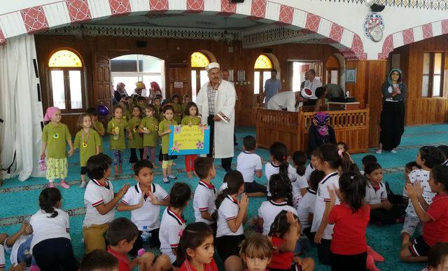 Ana sınıfı öğrencileri, 'Çocuk ve Cami Buluşması'na katıldı