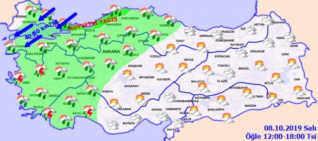 8 ekim hava durumu meteoroloji