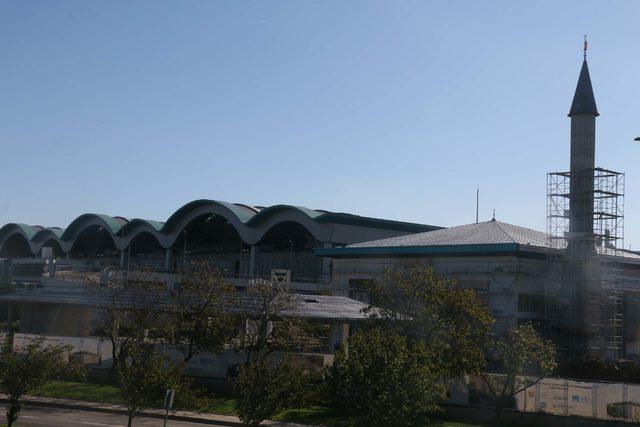 Sabiha Gökçen Havalimanı Camii inşaatında sona doğru
