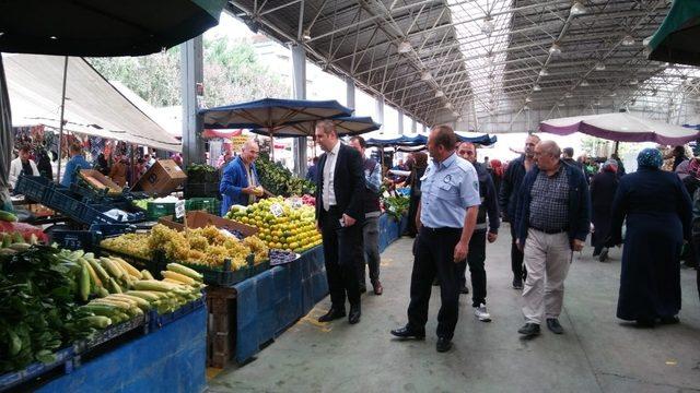 Pursaklar'ın pazarlarında sıkı denetim