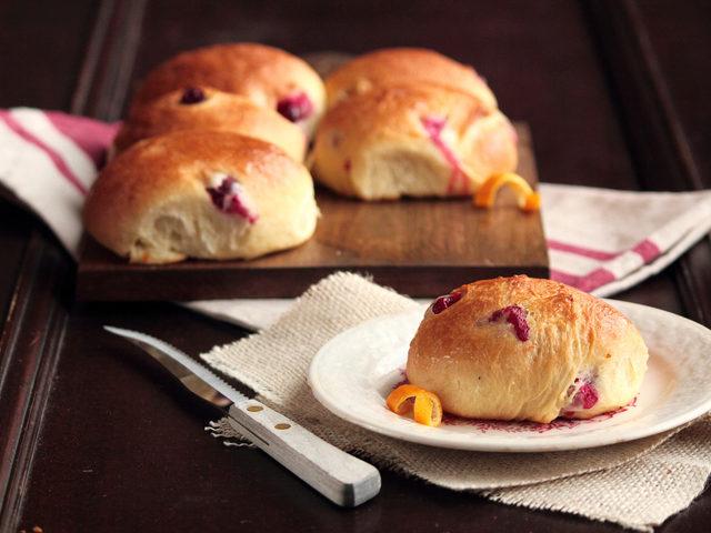 Portakallı, Böğürtlenli Mini Ekmek