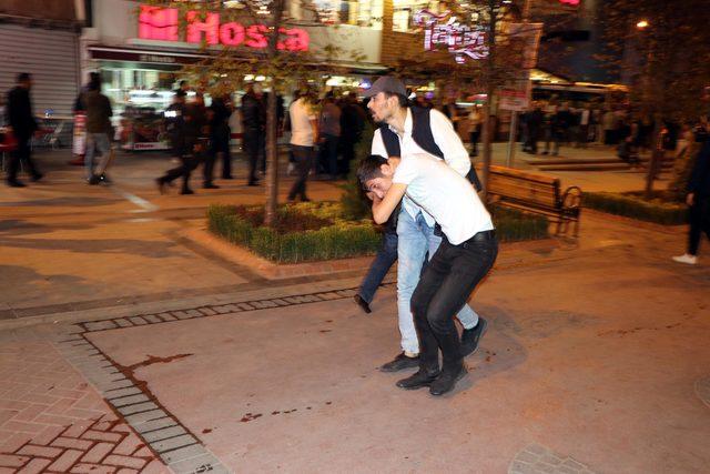 Ankara'da, 'Barış Pınarı Harekatı'nı protesto eden HDP'liler ile ilgili görsel sonucu