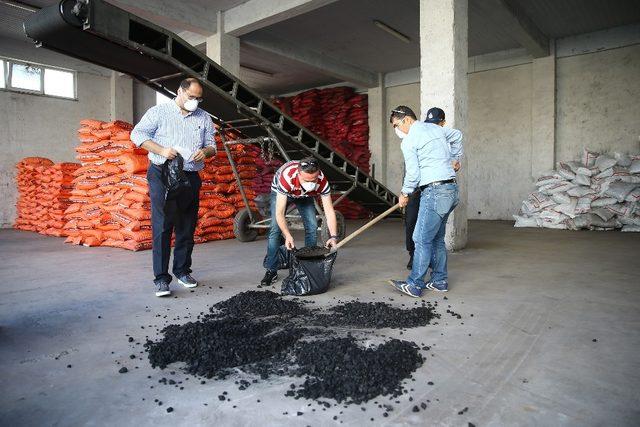 Büyükşehir belediyesinden kömür satıcılarına yönelik denetim