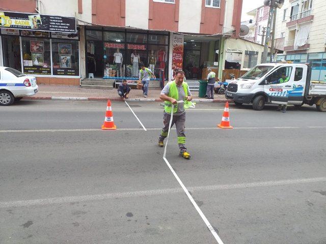 1 kişinin hayatını kaybettiği caddeye yaya geçidi yapıldı
