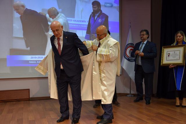 TBMM eski Başkanı Kahraman'a fahri doktora