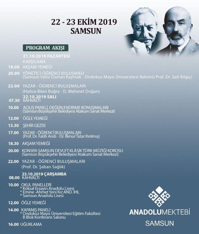 'Mehmet Akif Ersoy ve Tarık Buğra'nın dilinden 100. yılında Milli Mücadele' programı Samsunlular ile  buluşacak