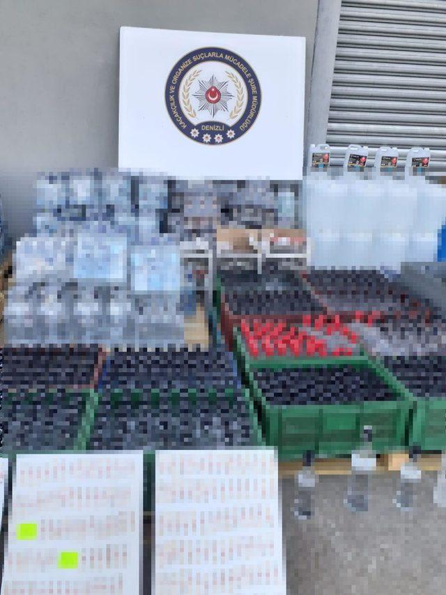 Denizli'de sahte içki operasyonu: 3 gözaltı
