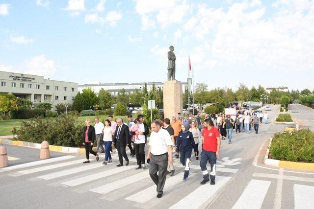 Adıyaman Üniversitesinde sağlıklı yaşam yürüyüşü yapıldı