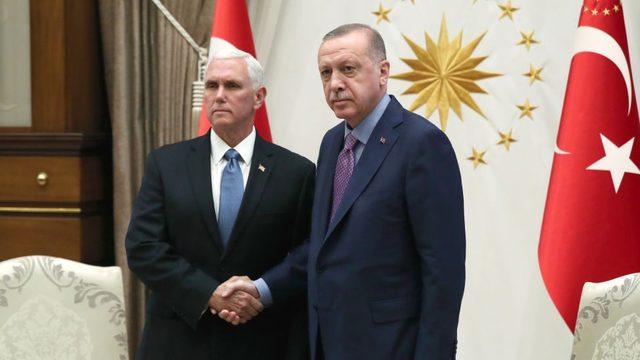 Cumhurbaşkanı Erdoğan ve ABD Başkan Yardımcısı Mike Pence, 17 Ekim'de Ankara'da görüşmüştü.