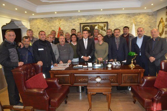 Başkan Demir, işçilerle toplu sözleşme imzaladı