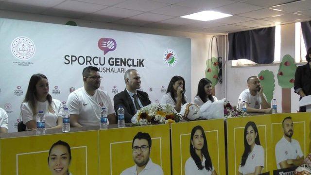 Kepez'in gençleri, sporcularla buluşuyor