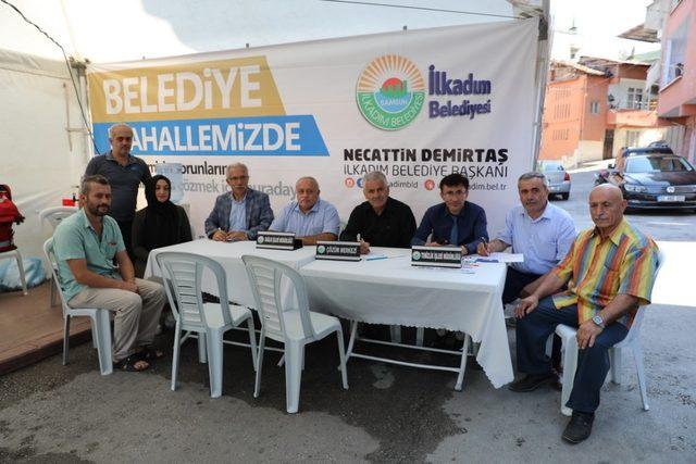 İlkadım Belediyesi hizmet çadırı Liman Mahallesi sakinlerini misafir etti