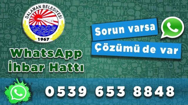 Dalaman Belediyesi Whatsapp ihbar hattını kurdu