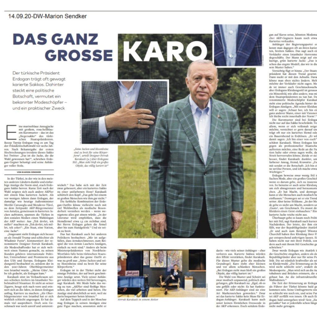 """Cumhurbaşkanı Erdoğan'ın """"ceketi"""" Alman Welt gazetesine haber oldu"""