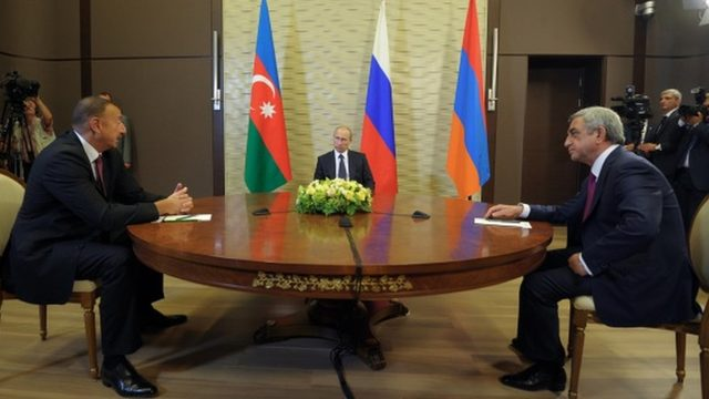 Aliyev, Putin, Serkisyan