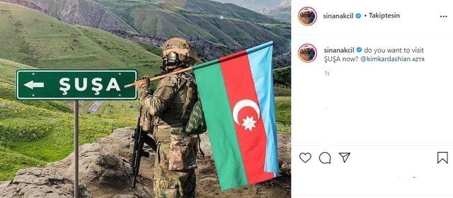 Sinan Akçıl'dan Kim Kardashian'a Azerbaycan mesajı!