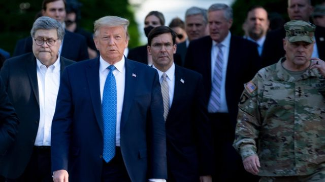 ABD Başkanı Donald Trump ve Genelkurmay Başkanı Mark Milley.