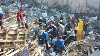 Okul inşaatında göçük: Ölü ve yaralılar var