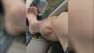Bacağındaki krampı böyle kaydetti
