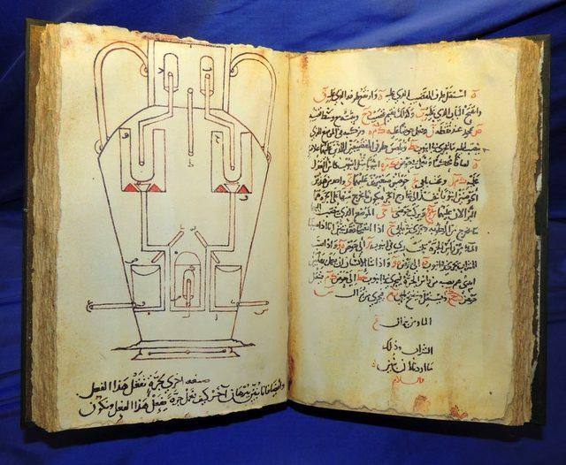 Kütüphane burada görülen, 850 yılında yayımlanan