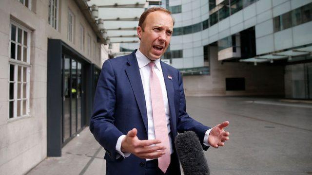 İngiltere Sağlık Bakanı Hancock, BBC'ye mülakat verdi.