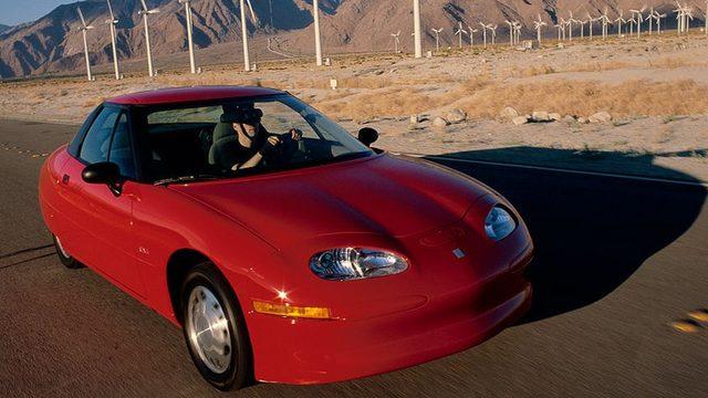 1998'de çıkan ve başarısız olan EV1 General Motors'un ilk elektrikli otomobil girişimiydi