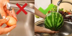 Yemeden önce kesinlikle yıkamanız gereken 5 ve asla yıkamamanız gereken 5 yiyecek